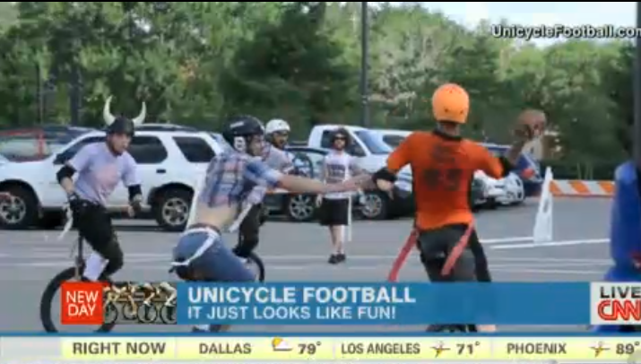 CNN reports Unicycle Football is sweeping the heartland